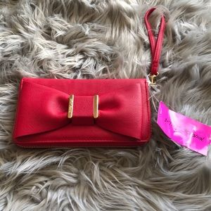 Betsy Johnson red clutch